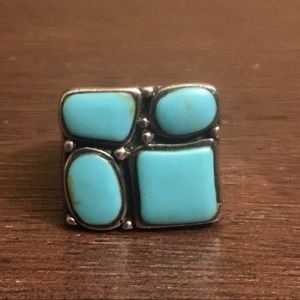 Turquoise / Sterling Navajo Ring